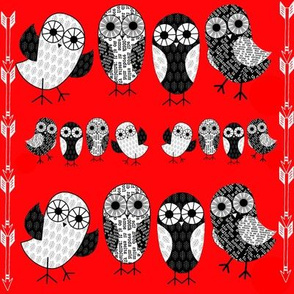 Folk Art Owls