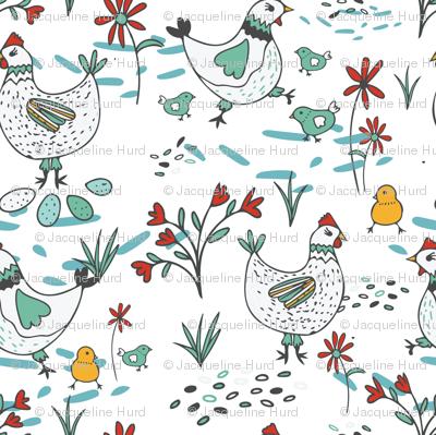 Freerange Hens and Chicks