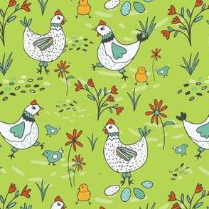 Free Range Hens and Chicks