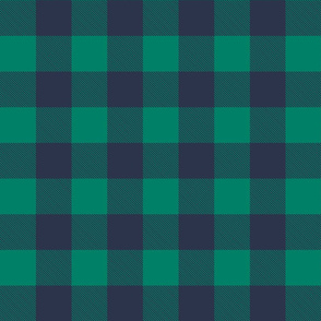 Buffalo Check in Navy and Green