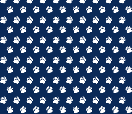 Bear Paw Navy fabric by sproutz on Spoonflower - custom fabric