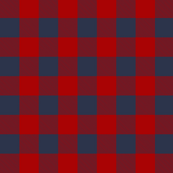 Buffalo Check in Red and Navy