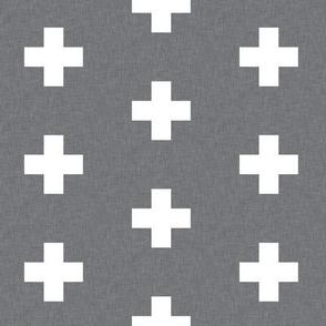 Swiss Cross | Gray and White