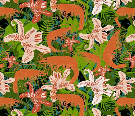 tropical shrimp fabric by kociara on Spoonflower - custom fabric