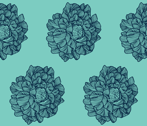 large floral mint fabric by kristy_stafford on Spoonflower - custom fabric