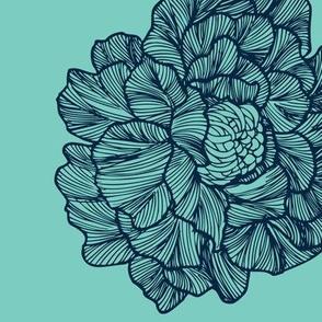 large floral mint