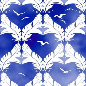 Flocked Gulls Batik Style
