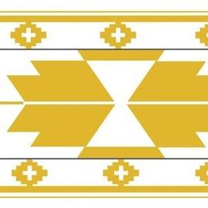 White Gold Kilim Aztec