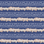 ZoomZoom - Cadet Blue and White