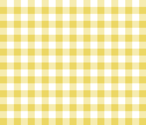 Gingham Yellow fabric by littlerhodydesign on Spoonflower - custom fabric