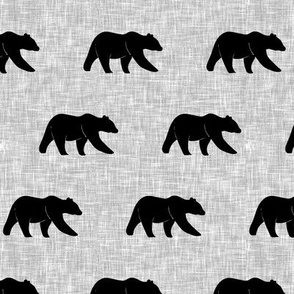 bear on light grey linen (small scale) || the lumberjack collection