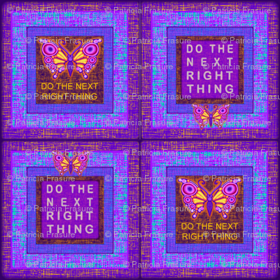 Purple Butterfly Do the Next Right Thing Check