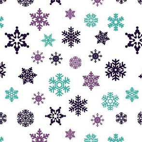 snowflakes || frozen purple