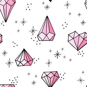 Jewels big // Pink with black outlines
