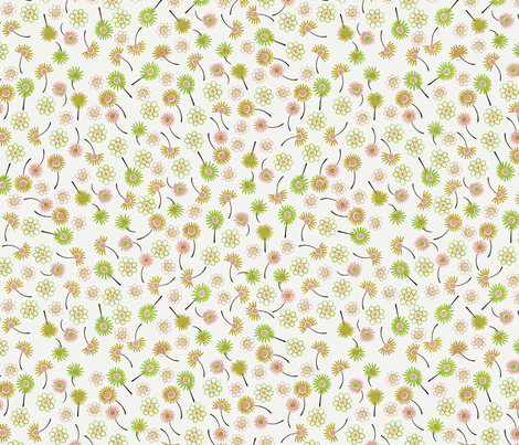 Bird Village Flowers fabric by zoe_ingram on Spoonflower - custom fabric