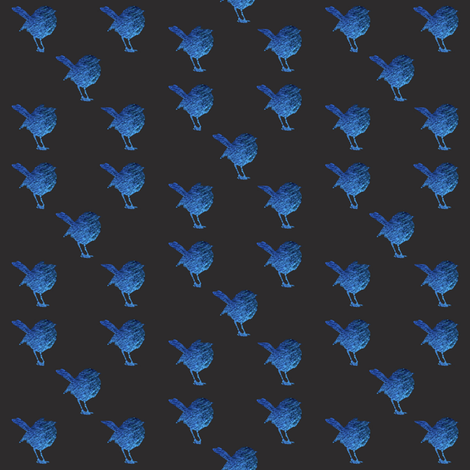 Mid Blue Wrens fabric by janinez on Spoonflower - custom fabric