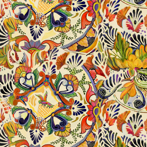 Talavera Scramble fabric by wren_leyland on Spoonflower - custom fabric