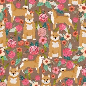 shiba inu flowers florals dog cute pet dog flower fabric pets shiba inus