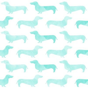 watercolor doxie cute doxie dachshund dogs watercolors aqua girls nursery baby sweet dogs