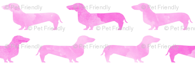 watercolor dachshunds pink girls nursery baby cute dog wiener dog weener dog sausage dogs cute doxie watercolor design