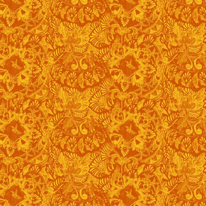 Talavera tumble sketch orange