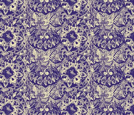 Talavera tumble sketch-purple fabric by wren_leyland on Spoonflower - custom fabric