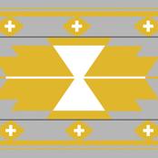 Grey Mustard Kilim Aztec