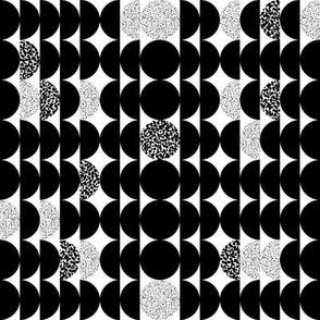 Circles Circles Black and White