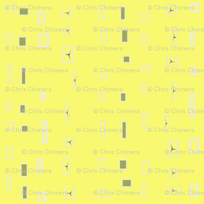 abstract icicles - pale lime + gray