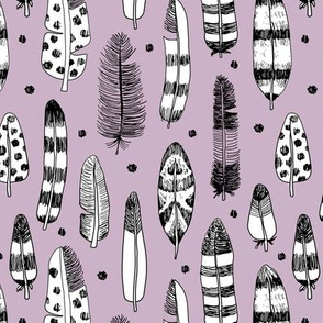 Quirky birds fun Ibiza indian summer vintage inspired feathers in ink fall collection lilac purple