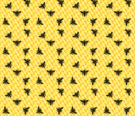busybees fabric by bliss_and_kittens on Spoonflower - custom fabric