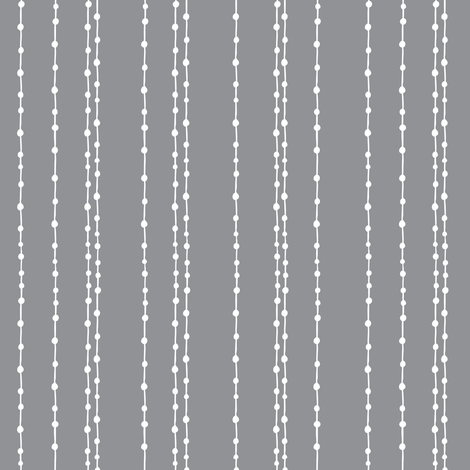 Stranded - Geometric Lines and Dots Grey fabric by heatherdutton on Spoonflower - custom fabric
