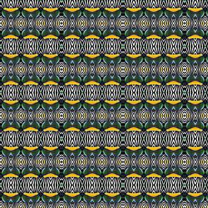Black White Stripe Yellow