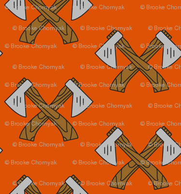Lumberjack Axe Orange