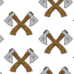 Lumberjack Axe White