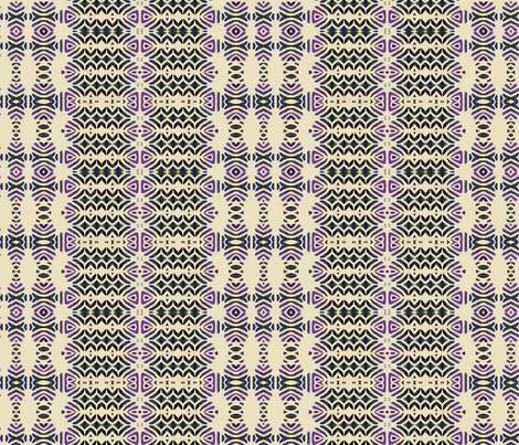 Talavera BW and plum fabric by wren_leyland on Spoonflower - custom fabric