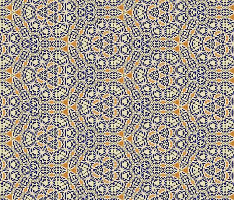 Talavera Mex Rosettes fabric by wren_leyland on Spoonflower - custom fabric