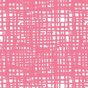Raw grunge grid abstract brush strokes and stripes mix maze design pink girls