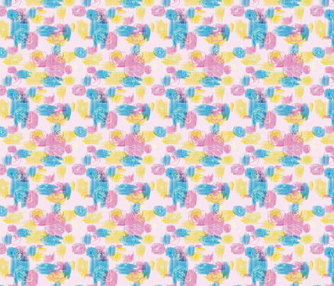 Peonie Paints fabric by chibiosaka on Spoonflower - custom fabric