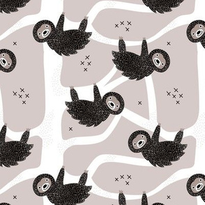 Sweet pura vida costa rica jungle animals sloths gray black and white