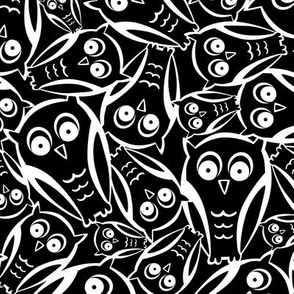 Night Owl - Black and White