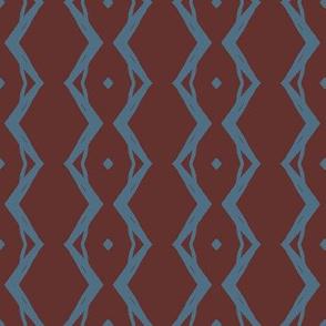 Grapevine Large (Blue & Dark Plum)