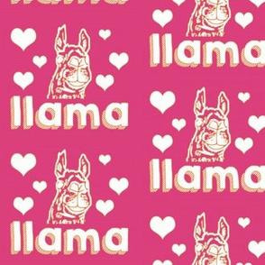 Llama love in pink!