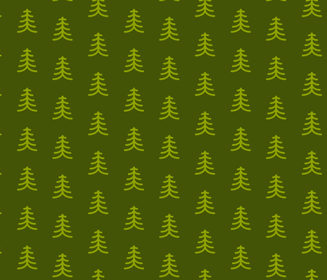 Modern Trees fabric by collective_iq on Spoonflower - custom fabric