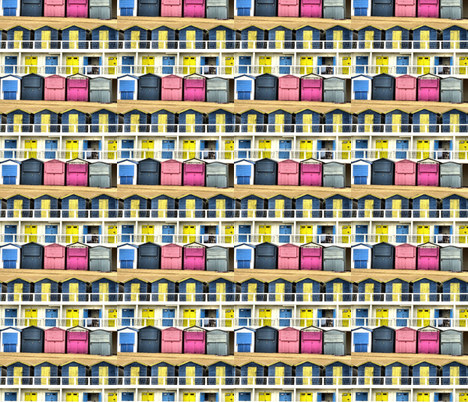 Beach Huts fabric by redthanet on Spoonflower - custom fabric