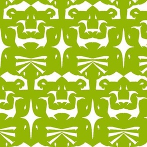 Island Tribal Print 5 Leaf