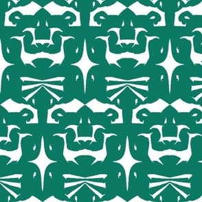 Island Tribal Print 5 Forest Green