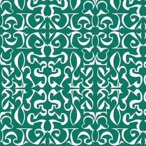 ARABESQUE Bottle Green and White