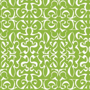 ARABESQUE Leaf Green and White