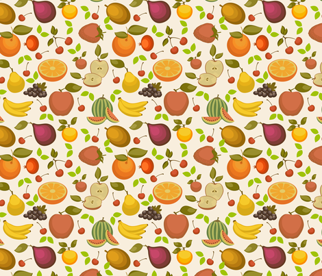 Fruit Salad - 7.5in fabric by studiofibonacci on Spoonflower - custom fabric